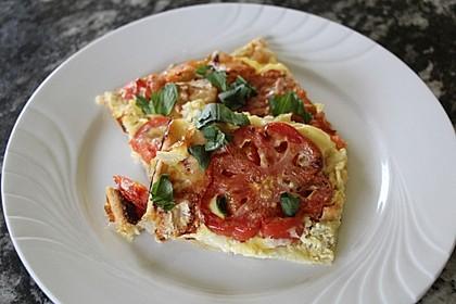 Leichte Tomatentarte mit Camembert 6