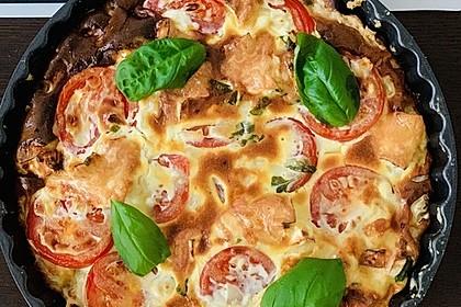 Leichte Tomatentarte mit Camembert 11