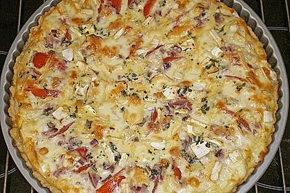 Leichte Tomatentarte mit Camembert 7