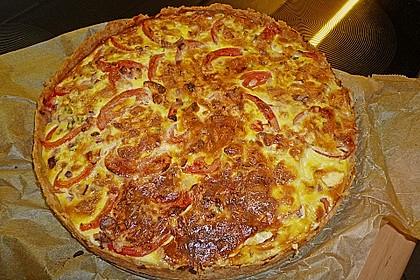 Leichte Tomatentarte mit Camembert (Bild)