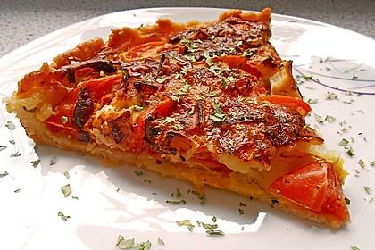 Leichte Tomatentarte mit Camembert 12