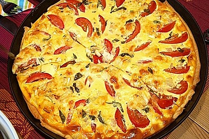 Leichte Tomatentarte mit Camembert 5