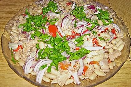 Thunfischsalat mit dicken weißen Bohnen 1