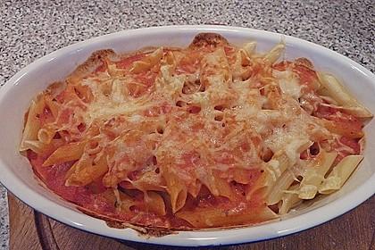 Nudelauflauf mit Tomaten - Sahnesoße 3