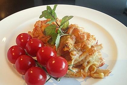 Nudelauflauf mit Tomaten - Sahnesoße 1