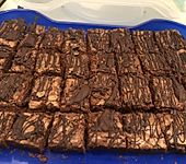American Double Choc Brownies (Bild)