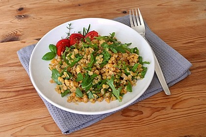 Linsen-Rucola-Salat 4