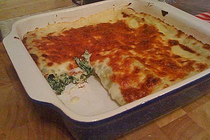 Cannelloni mit Ricotta und Spinat 2