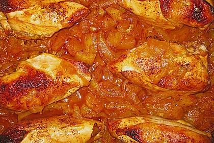 Hähnchenschenkel auf Curryobst 8