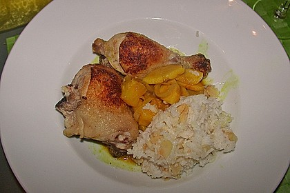 Hähnchenschenkel auf Curryobst 6