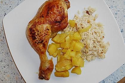 Hähnchenschenkel auf Curryobst 3