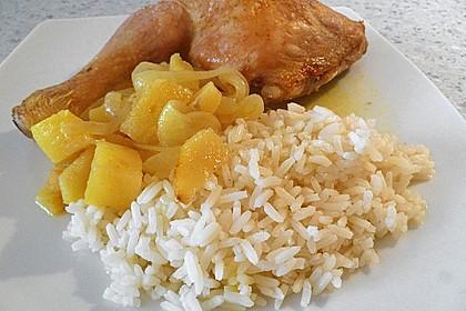 Hähnchenschenkel auf Curryobst 9