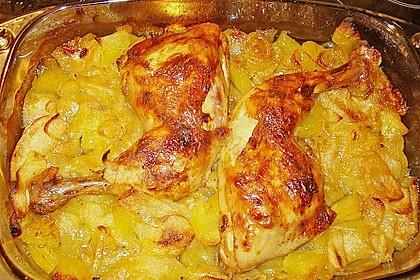 Hähnchenschenkel auf Curryobst 10