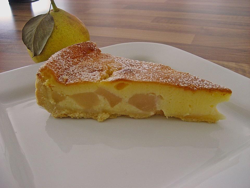Birnen Creme Kuchen Ein Gutes Rezept Chefkoch De