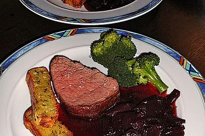 Rinderfilet auf Rotweinschalotten-Butter 5