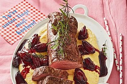 Rinderfilet auf Rotweinschalotten-Butter