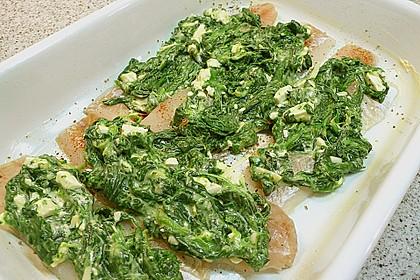 Seelachsfilet mit Spinat - Feta - Kruste 14