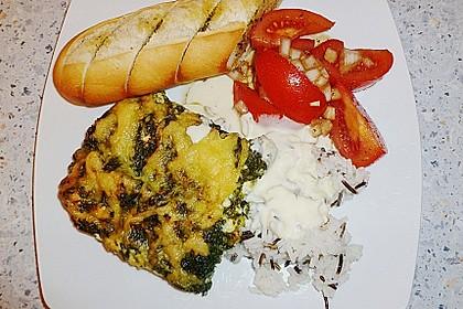 Seelachsfilet mit Spinat - Feta - Kruste 10