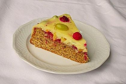 Früchte - Pudding Kuchen