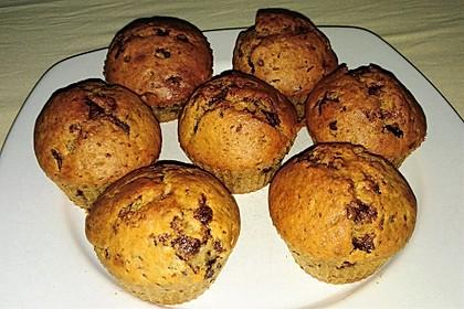 Bananen - Schokostreusel - Muffins (Bild)