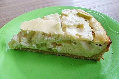 Buttermilch - Käsekuchen mit Rhabarber (Bild)