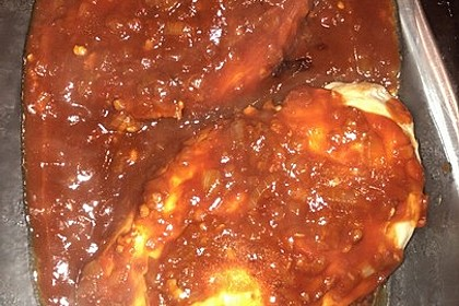Hähnchenbrust in Tomaten - Honig - Chili - Soße 15
