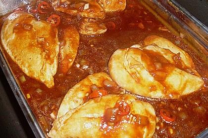 Hähnchenbrust in Tomaten - Honig - Chili - Soße 8