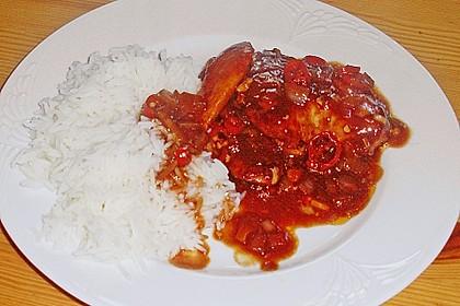 Hähnchenbrust in Tomaten - Honig - Chili - Soße 12