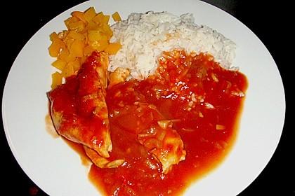 Hähnchenbrust in Tomaten - Honig - Chili - Soße 16