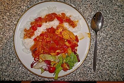 Hähnchenbrust in Tomaten - Honig - Chili - Soße 2
