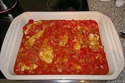 Hähnchenbrust in Tomaten - Honig - Chili - Soße 7