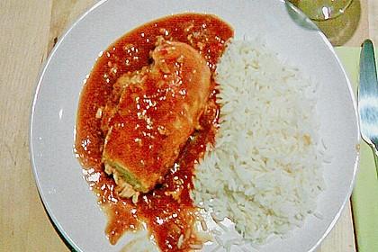 Hähnchenbrust in Tomaten - Honig - Chili - Soße 17