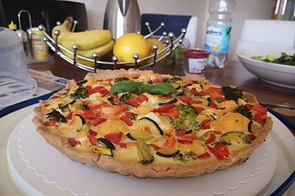 Gemüse-Quiche 10