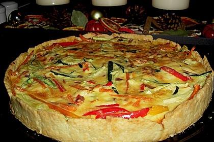 Gemüse-Quiche 16