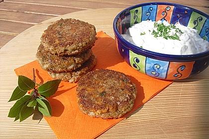 Grünkern - Frikadellen mit Joghurtsauce 7
