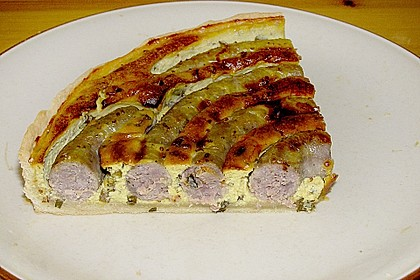 Bratwurst - Torte mit Senfkruste 5