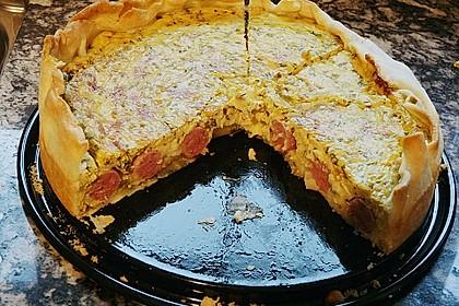 Bratwurst - Torte mit Senfkruste 8