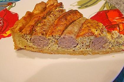 Bratwurst - Torte mit Senfkruste 3