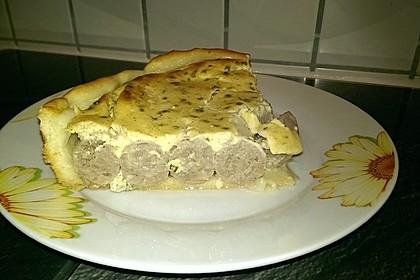 Bratwurst - Torte mit Senfkruste 27