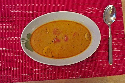 Scharfe Thai Cocos - Suppe 1
