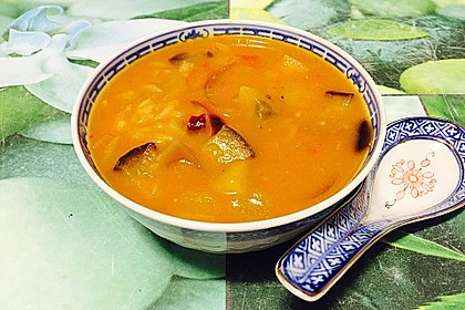 Scharfe Thai Cocos - Suppe