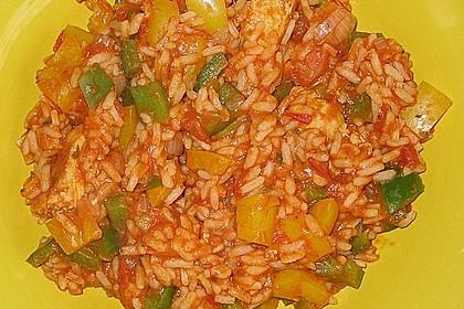 Hähnchen - Reis - Pfanne 1