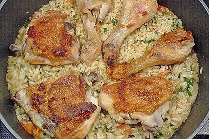 Hähnchen - Reis - Pfanne