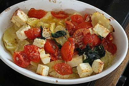 Taubnessel - Brennnessel - Auflauf mit Tomaten und Schafskäse