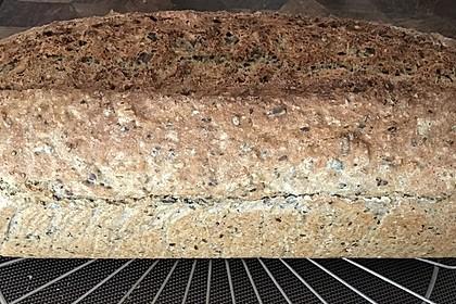 Schnelles Dinkel - Buchweizen - Brot 4