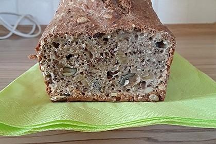 Schnelles Dinkel - Buchweizen - Brot 26