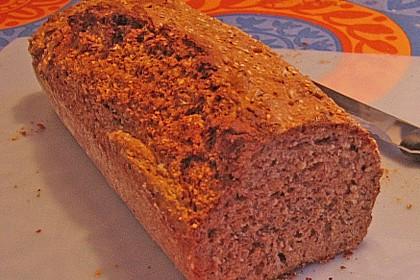 Schnelles Dinkel - Buchweizen - Brot 46