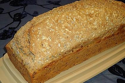 Schnelles Dinkel - Buchweizen - Brot 21