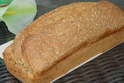 Schnelles Dinkel - Buchweizen - Brot 12