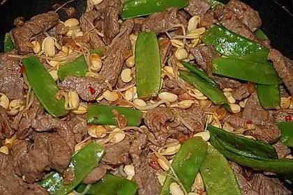 Chinesisches Rinderfilet (scharf) mit buntem Gemüse und Basmatireis 5